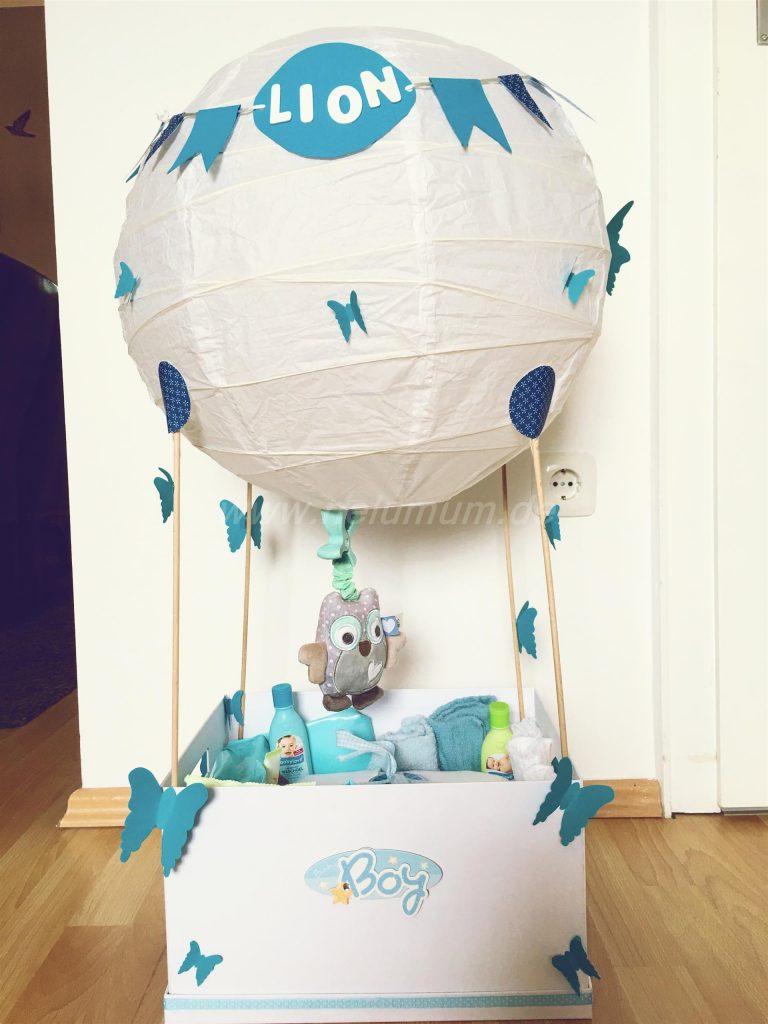 Heißluftballon Zur Geburt Nelumum
